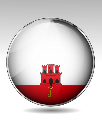 gibraltar: Gibraltar flag button