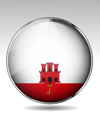 gibraltar: Gibraltar flag button