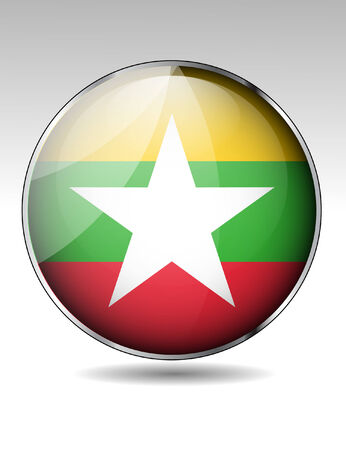 myanmar: Myanmar flag button