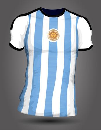 uniforme de futbol: Jersey de fútbol de Argentina Vectores