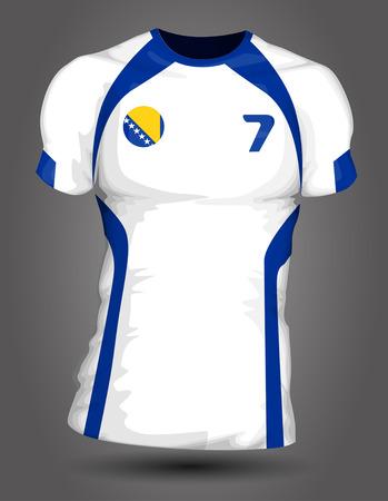 jersey: Bosnia and Herzegovina soccer jersey Illustration