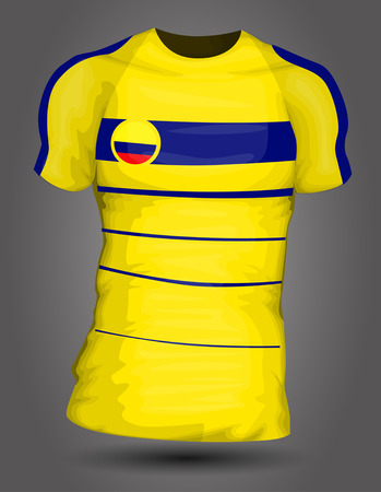 Colombia soccer jersey Vector