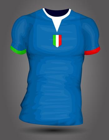 Italy soccer jersey Vector