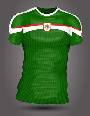 Mexico soccer jersey Vector