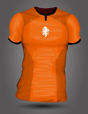 Netherlands soccer jersey Illustration