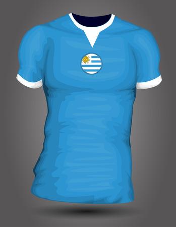 bandera de uruguay: Jersey de fútbol de Uruguay