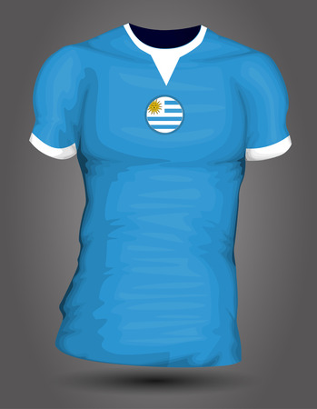 jersey: Uruguay soccer jersey Illustration