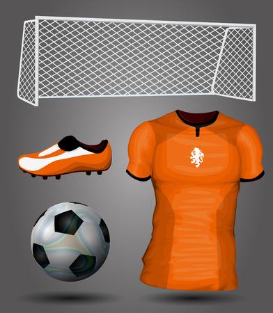 soccer jersey: Netherlands soccer jersey Illustration