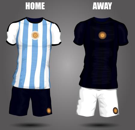 Argentina soccer jersey Vector