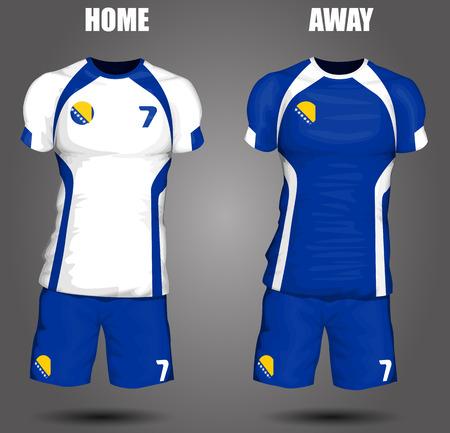 sports uniform: Bosnia and Herzegovina soccer jersey Illustration