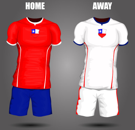 soccer jersey: Chile soccer jersey Illustration