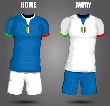 Italy soccer jersey Vector
