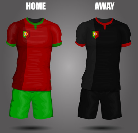 Portugal soccer jersey Vector