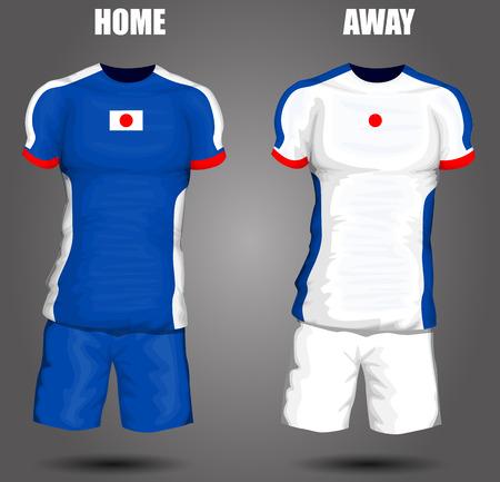 sports uniform: Japan soccer jersey Illustration