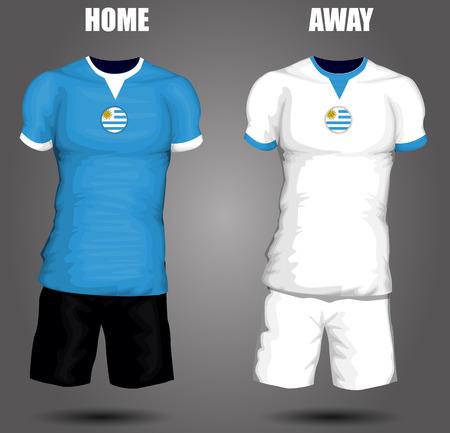Uruguay soccer jersey Vector