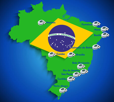 creole: Brazil soccer stadium map