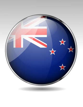new zealand flag: Pulsante di bandiera della Nuova Zelanda