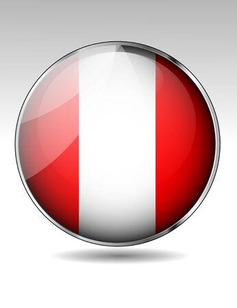 bandera de peru: Botón del indicador del Perú