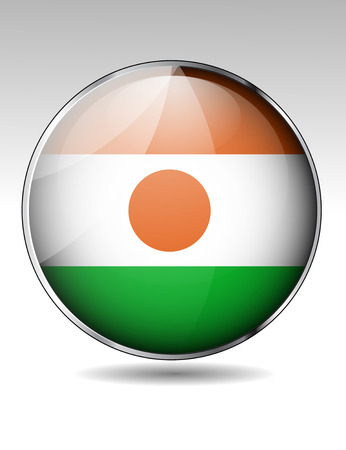 niger: Niger flag button