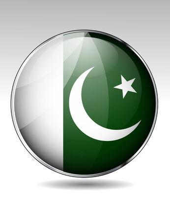 pakistan flag: Pakistan flag button