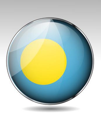 Palau flag button