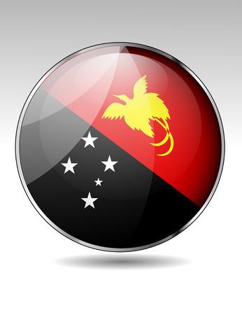 papouasie: Papouasie-Nouvelle-Guin�e, drapeau, bouton Illustration