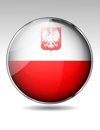 bandera de polonia: Botón de la bandera de Polonia