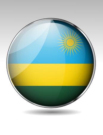 rwanda: Rwanda flag button