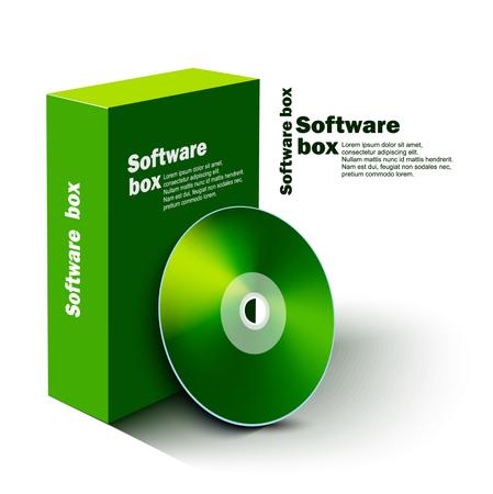 software box: Software box Illustration