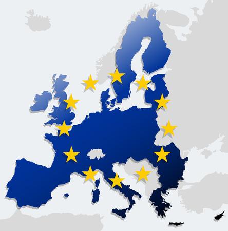 欧州連合の地図  イラスト・ベクター素材