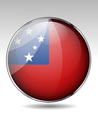 samoa: Samoa flag button Illustration