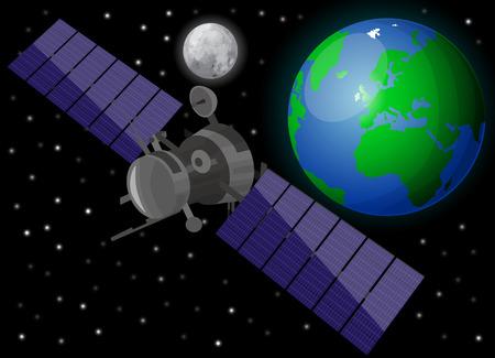 satellite navigation: Sat�lite en el espacio
