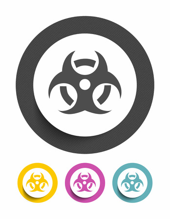 biological warfare: Biohazard sign icon