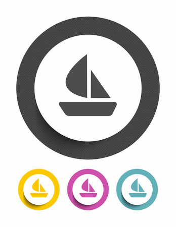 inflate boat: Boat sign icon
