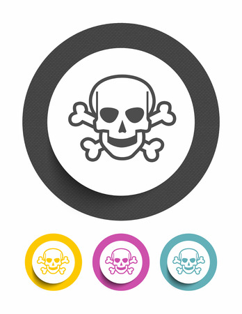 deadly danger sign: Danger sign icon