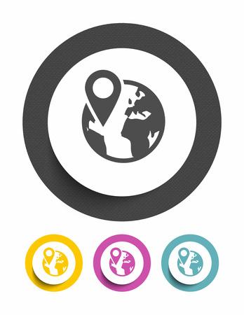 Earth globe sign icon Vector