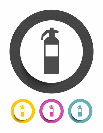 Fire extinguisher sign icon Vector
