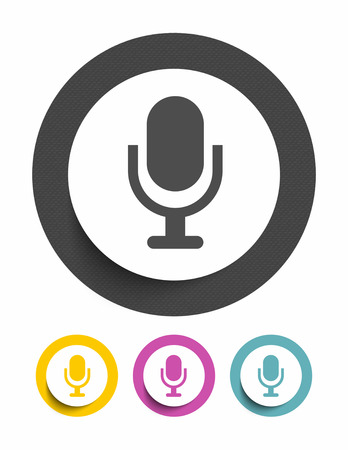 podcasting: Microphone sign icon