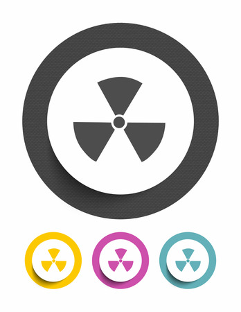deterrent: Nuclear sign icon Illustration