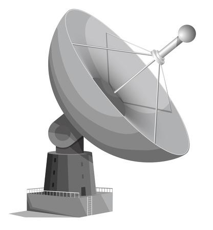radio mast: Radar dish