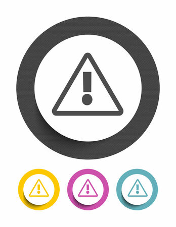 pictogram attention: Warning sign icon