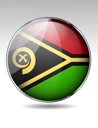 vanuatu: Vanuatu flag button Illustration