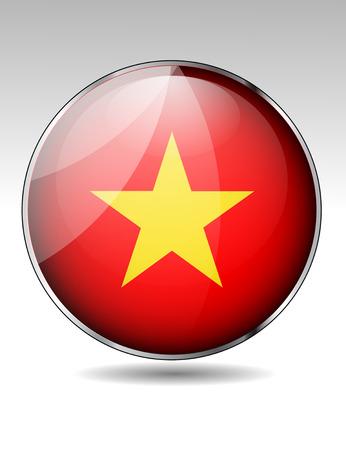 vietnam flag: Vietnam flag button