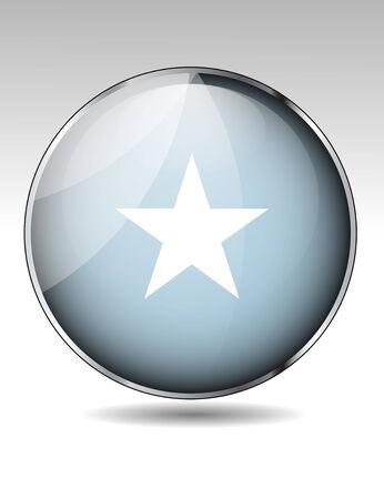 somali: Somalia flag button