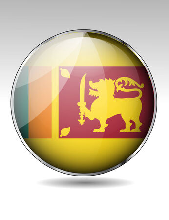 Sri Lanka flag button Illustration