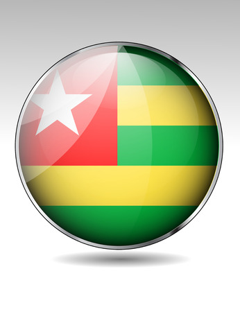 togo: Togo flag button