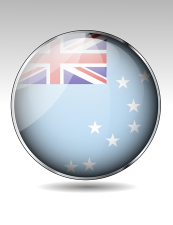 Tuvalu flag button Stock Vector - 30441386