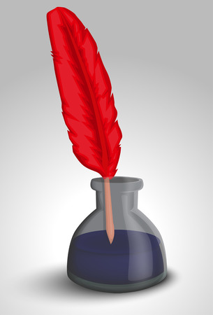 author: Feather and ink bottle