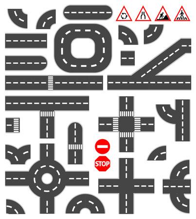 키트: 도로 요소 일러스트