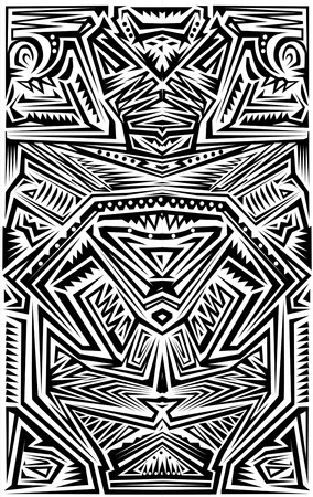 color tribal tattoo: Tribal Tatoo Illustration